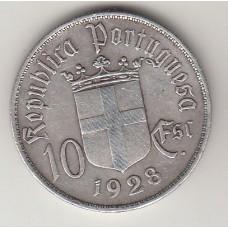 10 эскудо, Португалия, 1928