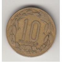 10 франков, Камерун, 1972