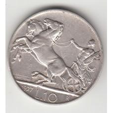 монета 10 лир, Италия, 1927 год , стоимость , цена