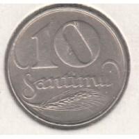 10 сантимов, Латвия, 1922