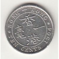 10 центов, Гонконг, 1904