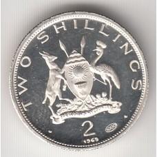 2 шиллинга, Уганда, 1969
