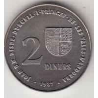2 динера, Андорра, 1987