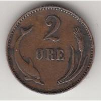 2 эре, Дания, 1906