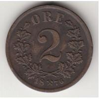 2 эре, Норвегия, 1876