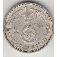 2 рейхсмарки, Германия, 1939