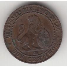 2 сантима, Испания, 1870