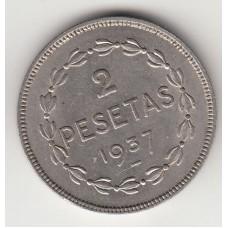 2 сентимо, Испания, Страна басков, 1937