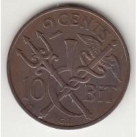 2 цента, датская Вест-Индия, 1905