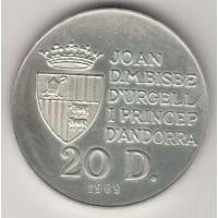 20 динеров, Андорра, 1989