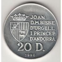 20 динеров, Андорра, 1990