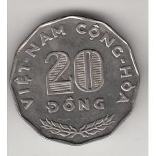 монета 20 донгов, Вьетнам, 1968 год , стоимость , цена