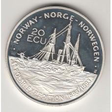 20 экю, Норвегия, 1993