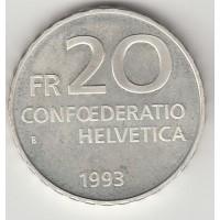20 франков, Швейцария, 1993