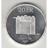 20 франков, Швейцария, 2001