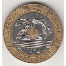20 франков, Франция, 1992
