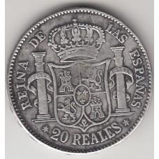 20 реалов, Испания, 1857