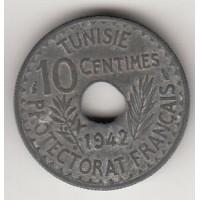 10 сантимов, Тунис, 1942