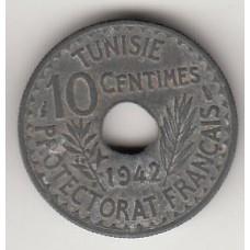 монета 20 сантимов, Тунис, 1942год , стоимость , цена