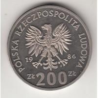 200 злотых, проба, Польша, 1986
