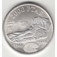 2000 песет, Испания, Гойя, 1996