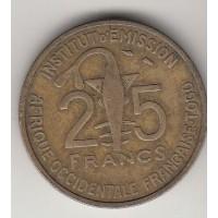 25 франков, Того, 1957