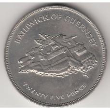 25 пенсов, Гернси, 1977