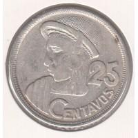 25 сентаво, Гватемала, 1954