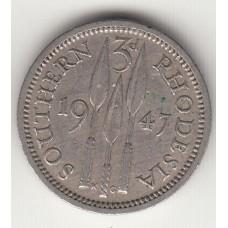 3 пенса, Южная Родезия, 1947