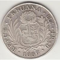 4 реала, Перу, 1836