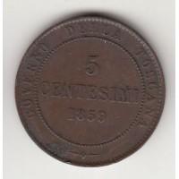 5 чентезимо, Тоскана, 1859