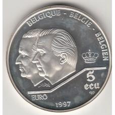 5 экю, Бельгия, 1997