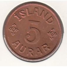 монета 5 эре, Исландия, 1942год , стоимость , цена