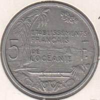 5 франков, Французская Океания, 1952