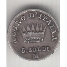 5 сольди, Италия, 1811