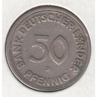 50 пфеннигов, D, Германия, 1949