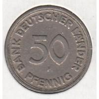 50 пфеннигов, J, Германия, 1949