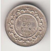 50 сантимов, Тунис, 1916