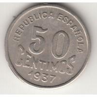 50 сентимо, Испания, Астурия и Леон, 1937