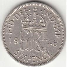 6 пенсов, Великобритания, 1940-1946