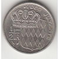 1/2 франка, Монако, 1979