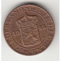 1/2 цента, Нидерландская Индия. 1945