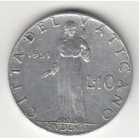 10 лир, Ватикан, 1951