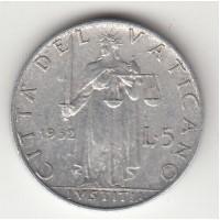 5 лир, Ватикан, 1952