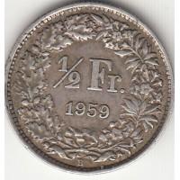 1/2 франка, Швейцария, 1959