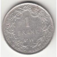 1 франк, Бельгия, 1911
