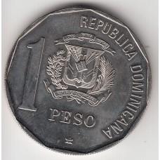 1 песо, Доминиканская республика, 1989