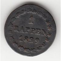 1 раппен, Берн, 1839