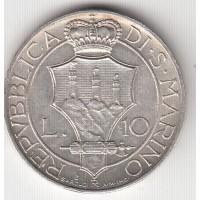 10 лир, Сан-Марино, 1937