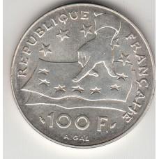 100 франков, Франция, 1991